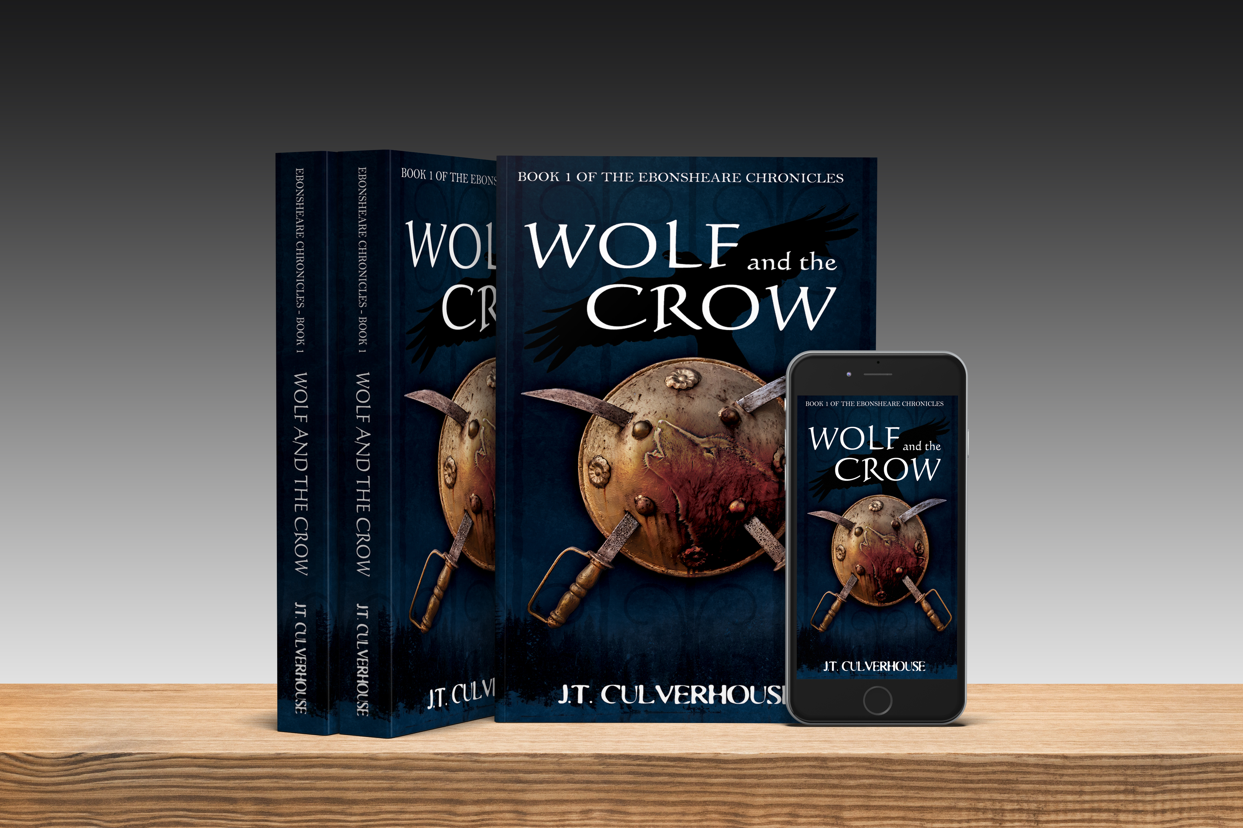 The first Physical Copy of Wolf and the Crow has arrived!